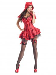 Sexy Teufelin Damenkostüm Halloween schwarz-rot
