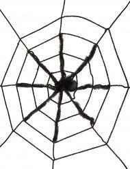 Spinnennetz mit riesiger schwarzer Spinne 130 cm