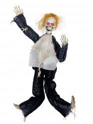 Hänge-Skelett Halloween-Dekoration weiss-schwarz 80x60cm