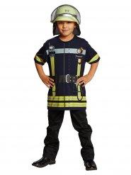 Feuerwehrmann-Spielshirt für Kinder blau-gelb