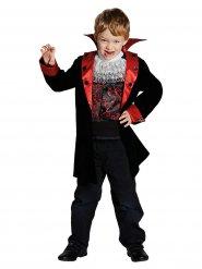 Süßes Vampir-Kostüm für Jungen schwarz-rot