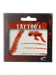 Blutige Narben-Tattoos für Halloween rot