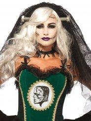 Gothic Brautschleier mit Nägeln,  Halloween für Damen