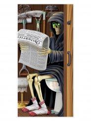 Tür-Poster für Halloween im Grusel-Design