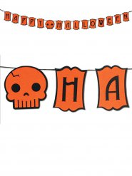 Halloween Girlande Raumdekoration Happy Halloween orange 182x13cm