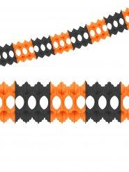 Papiergirlande orange und schwarz 360x10 cm