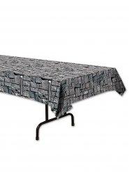 Tischdecke mit Steinmuster grau 137x274