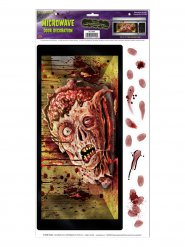 Mikrowellen-Aufkleber Zombiekopf Halloween 30 x 61 cm