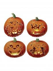 Halloween Pappbilder im Kürbis-Design orange 36 cm