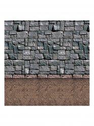 Wanddekoration Steinmauer 1,20x2m