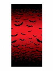 Fledermaus Wanddeko Halloween-Deko rot-schwarz