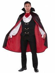 Vampir-Lord elegantes Halloween Kostüm für Herren schwarz-rot-weiss