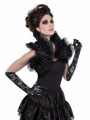 Rüschen-Bolero für Halloween Kostümzubehör schwarz