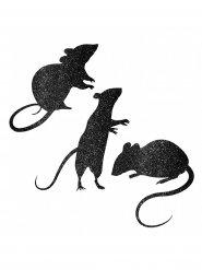 Deko-Mäuse Halloween Raumdekoration 9 Stück schwarz