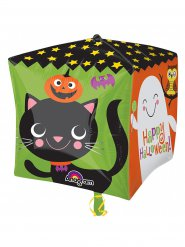 Folien-Ballon Happy Halloween Party-Deko bunt 38x38cm