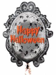 Nostalgischer Spiegel Folien-Ballon Halloween Partyzubehör grau 63x78cm