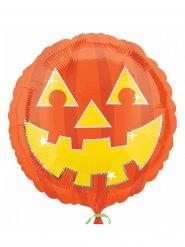 Gruseliger Folien-Ballon Kürbis Halloween-Deko 43x43cm
