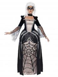 Barock-Spinnenbraut Halloween Damenkostüm schwarz-beige