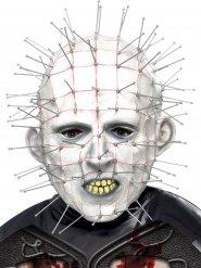 Hellraiser Pinhead Vollmaske für Halloween weiss-grau