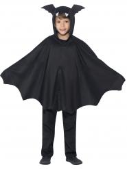 Schwarzer Fledermaus-Poncho für Kinder