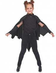 Umhang schwarze Vampirfledermaus Kinder Halloween