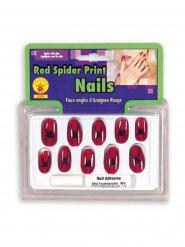 Nagel-Set Spinne rot und schwarz Hexe