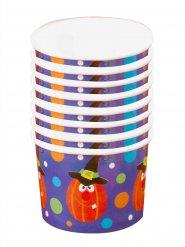 Tassen Dessert Halloween-Kürbis 5,5x8,5cm 8 Stück