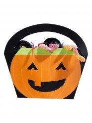 Süße Kürbis-Taschen für Halloween Süßigkeiten 4 Stück orange-schwarz