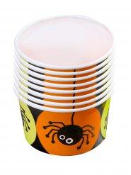 Spinnen-Behälter Dessertbecher Halloween-Tischdekoration 8 Stück bunt 5,5x8,5cm
