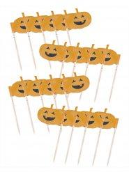 Kürbis Pieker für Cupcakes Halloween 7 cm