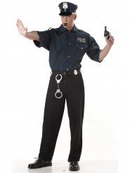 Polizei-Hemd Kostümzubehör Uniform für Herren blau