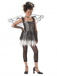 Düsteres Engelkostüm für Kinder Teen-Verkleidung schwarz-weiss