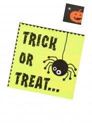 Trick or Treat Servietten für Halloween 20 Stück grün-schwarz