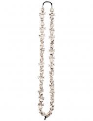 Halskette weißer Totenschädel Halloween