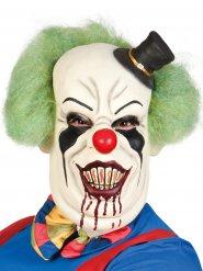 Psycho-Halloween-Maske Killerclown weiss-bunt