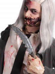 Messer Kostümzubehör Dolch Halloween grau 36x6cm
