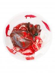 Herausgerissenes Herz Halloweendeko 17,5 x 7x5 cm