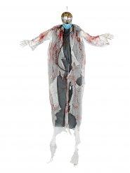 Hängedeko Zombie-Arzt mit Leuchtaugen