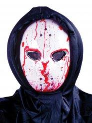 Blutige Hockey-Maske Serienkiller Halloween animiert weiss-rot