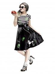 50er-Jahre Rockabilly Zombie-Kostüm Halloween schwarz-weiss