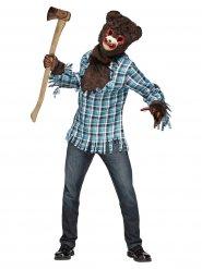Verrückter Teddybär Halloween-Verkleidung für Erwachsene bunt