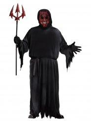 Höllischer Teufel animiert  Kostüm für Herren Halloween schwarz