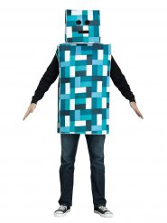 Retro Videospiel Kostüm für Erwachsene Roboter Blau