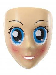 Manga-Maske Anime Kostümzubehör hautfarben-blau