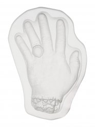 Hand Puddingform Halloween transparent