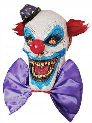 Clown-Maske aus Latex Halloween-Zubehör bunt
