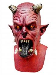 Teuflische Dämonen-Maske aus Latex Halloween schwarz-rot