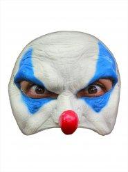 Horrorclown Maske für Erwachsene weiss-blau