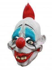 Psycho-Clownmaske Latex Kostümzubehör Zirkus weiss-rot