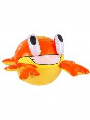 Aufblasbare Krabbe gelb und orange